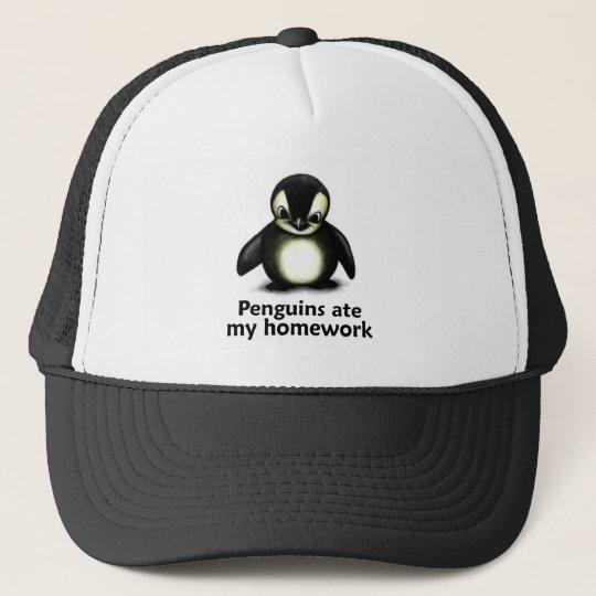 Penguins ate my Homework Trucker Hat