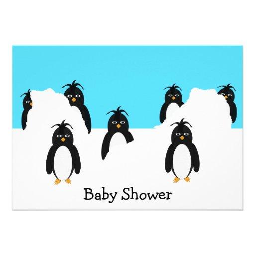 125 penguin baby shower invitations penguin baby shower