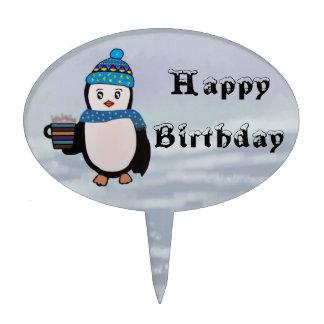 Penguins Birthday Cake Topper