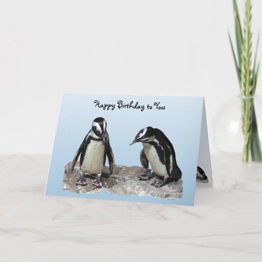 Penguins Birthday Card Zazzle