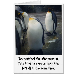 penguins birthday card