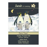 "Penguins Birthday Party Invitations for Kids 5"" X 7"" Invitation Card"