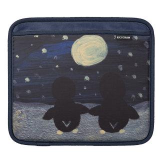 Penguins By Moon Light iPad Sleeve
