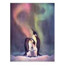 PENGUINS by SHARON SHARPE Postcard