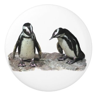 Penguins Ceramic Knob