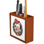 Penguins Christmas Desk Organizer