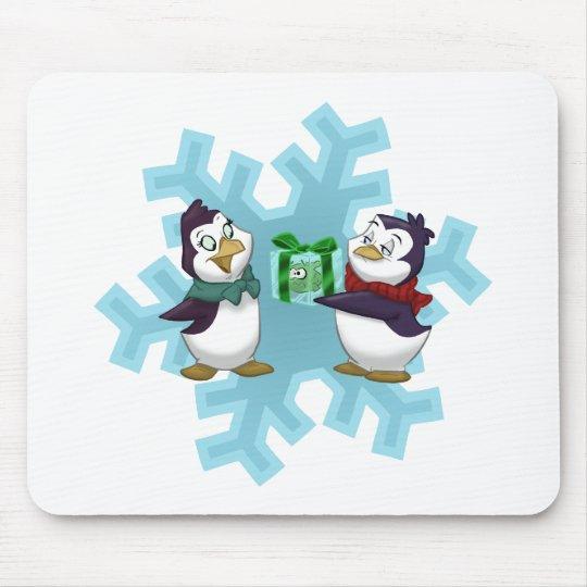 "Penguins ""Cool Yule"" Mouse Pad"