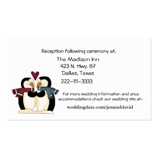 Penguins Couple enclosure cards Business Cards