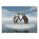 Penguins couple poster