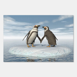 Penguins couple sign