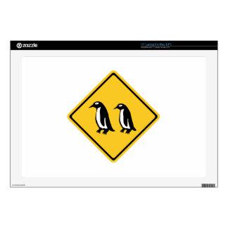 Penguins Crossing, Traffic Sign, New Zealand Laptop Skins