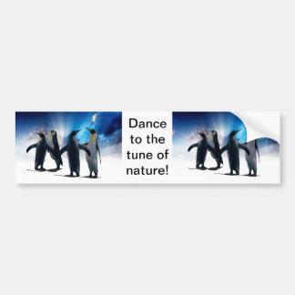 Penguins dance bumper sticker
