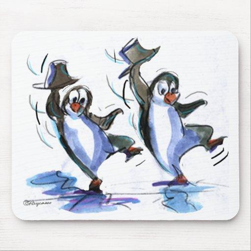 Penguins dancing mouse pad