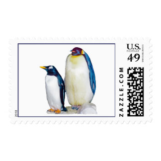 Penguins Drawing US Stamps