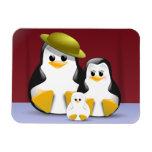Penguins family portrait magnet