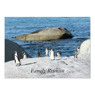 Penguins Family Reunion Card