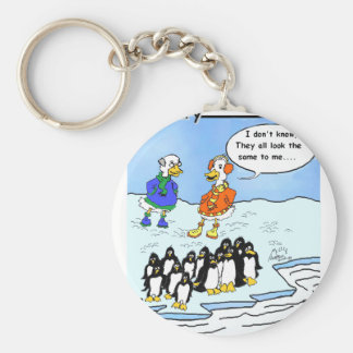 Penguins flew south keychain