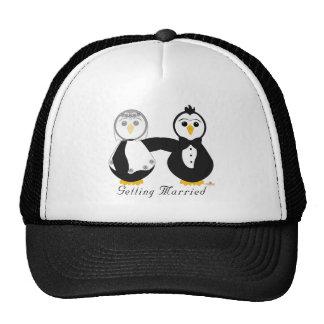 Penguins Getting Married Getting Married Trucker Hat