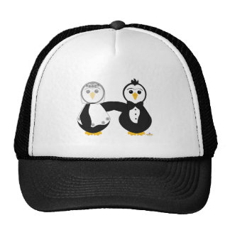 Penguins Getting Married Trucker Hat