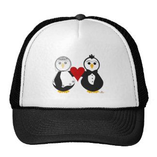 Penguins Getting Married Holding A Heart Trucker Hat