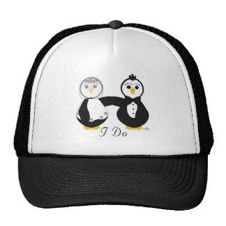 Penguins Getting Married I Do Trucker Hat