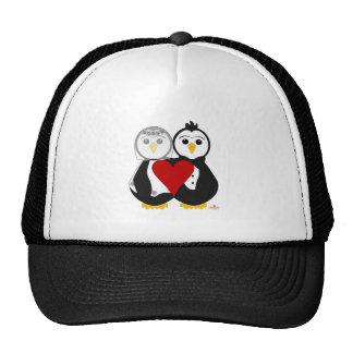 Penguins Getting Married In Love Trucker Hat