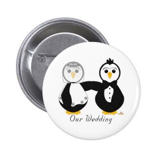 Penguins Getting Married Our Wedding Pin