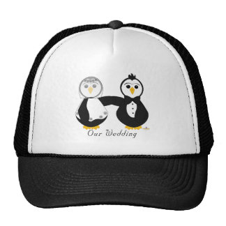 Penguins Getting Married Our Wedding Trucker Hat