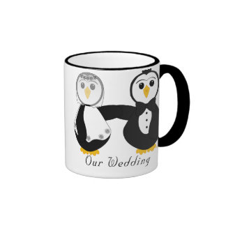 Penguins Getting Married Our Wedding Ringer Mug