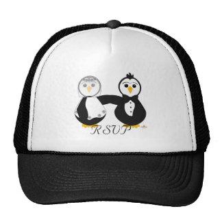 Penguins Getting Married RSVP Trucker Hat
