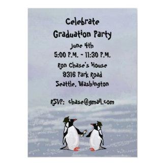 Penguins Graduation Party Invitations