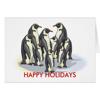 penguins, HAPPY HOLIDAYS Card