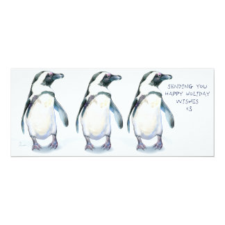 Penguins Happy Holidays x3! Card