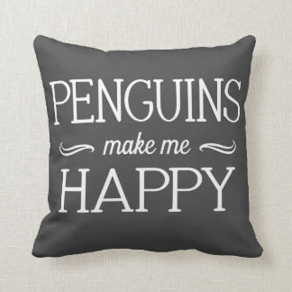 Penguins Happy Pillow - Assorted Styles & Colors