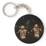 Penguins Holiday Light Display Keychain