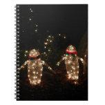 Penguins Holiday Light Display Notebook