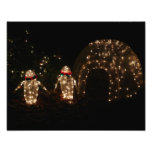 Penguins Holiday Light Display Photo Print