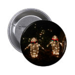 Penguins Holiday Light Display Pinback Button