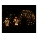Penguins Holiday Light Display Poster