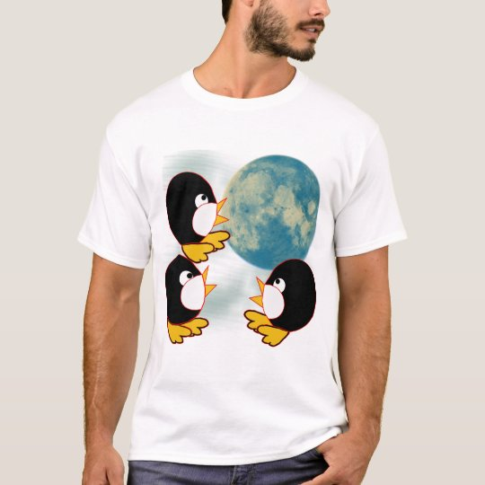 Penguins Howling at the Moon T-Shirt