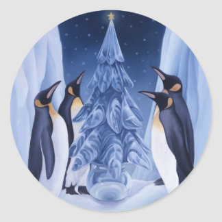 Penguins/Ice Tree Sticker
