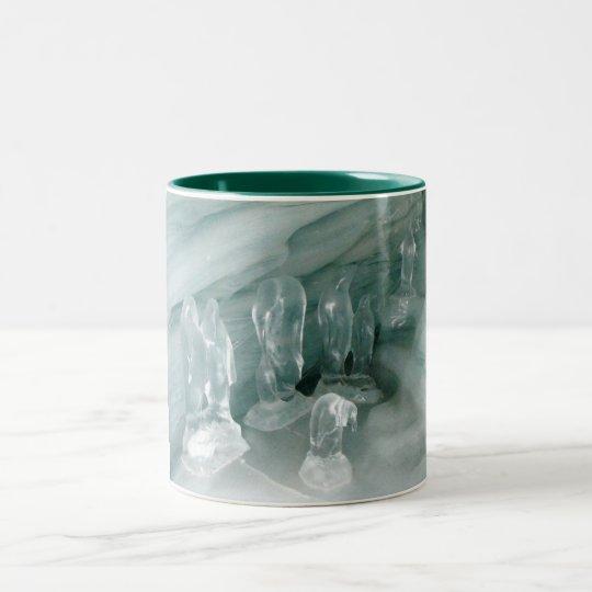 Penguins in ice Two-Tone coffee mug