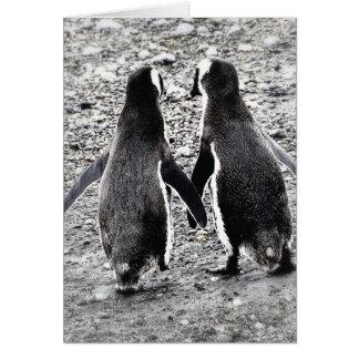 Penguins in Love Card