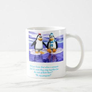 Penguins in love coffee mug