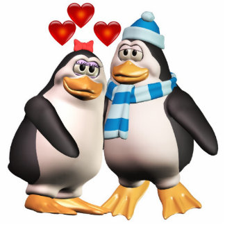 Penguins in Love Cutout