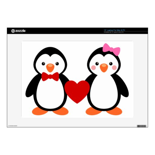 Penguins in Love Decals For Laptops