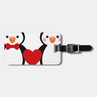 Penguins in Love Bag Tags