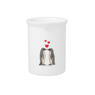 PENGUINS IN LOVE PITCHER