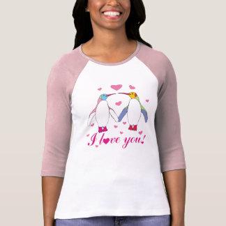 penguins in love tee shirt