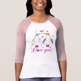 penguins in love tee shirts